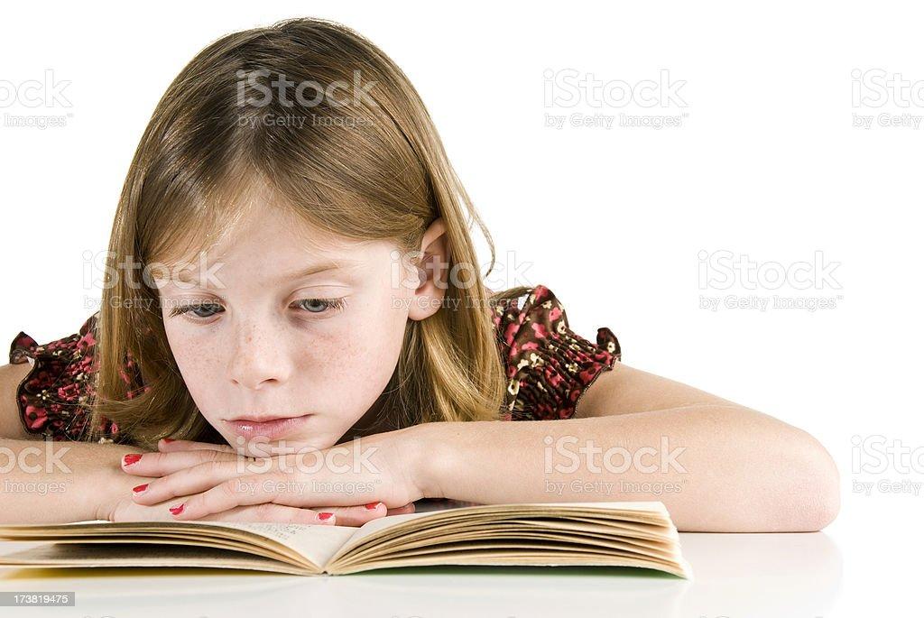 Lesen ein Buch Lizenzfreies stock-foto