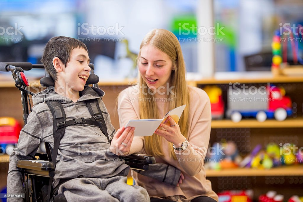 Reading a Book Together stock photo