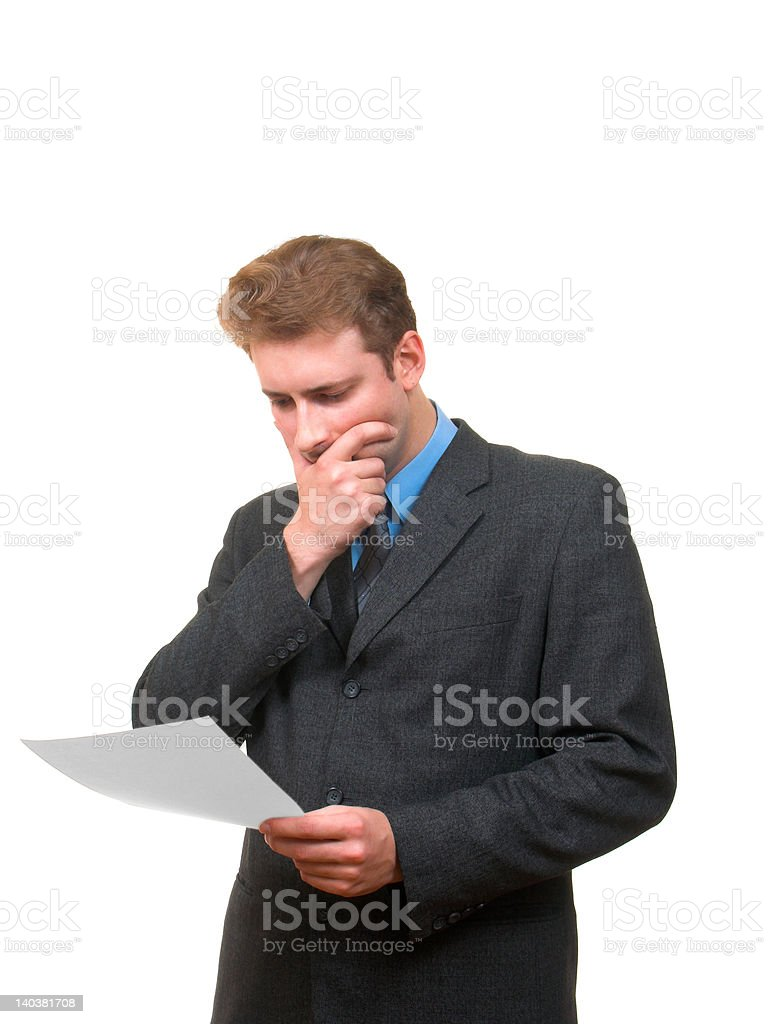 Reading a document royalty-free stock photo