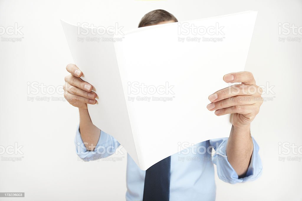 reading a mag royalty-free stock photo
