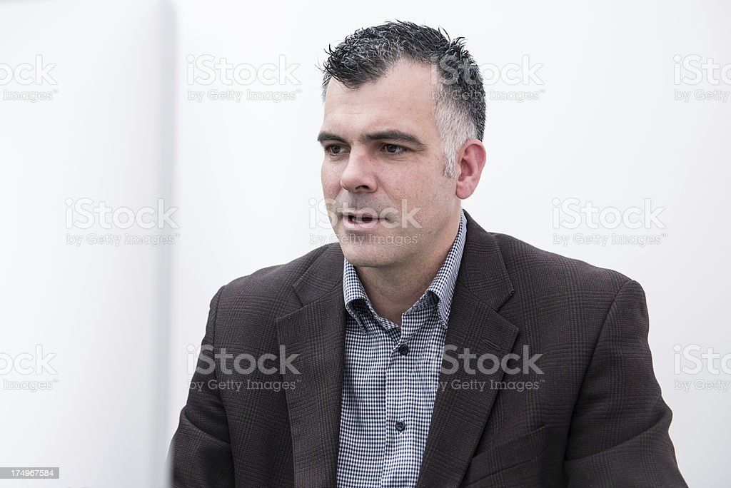 Reading an Email royalty-free stock photo