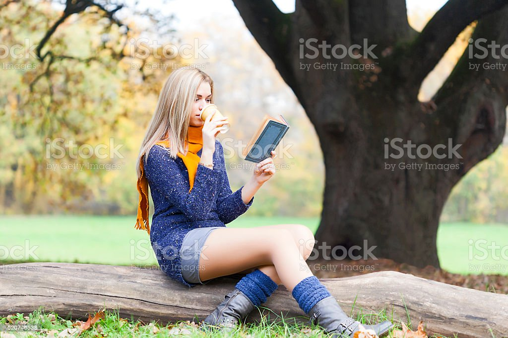 Reading and relaxing stock photo