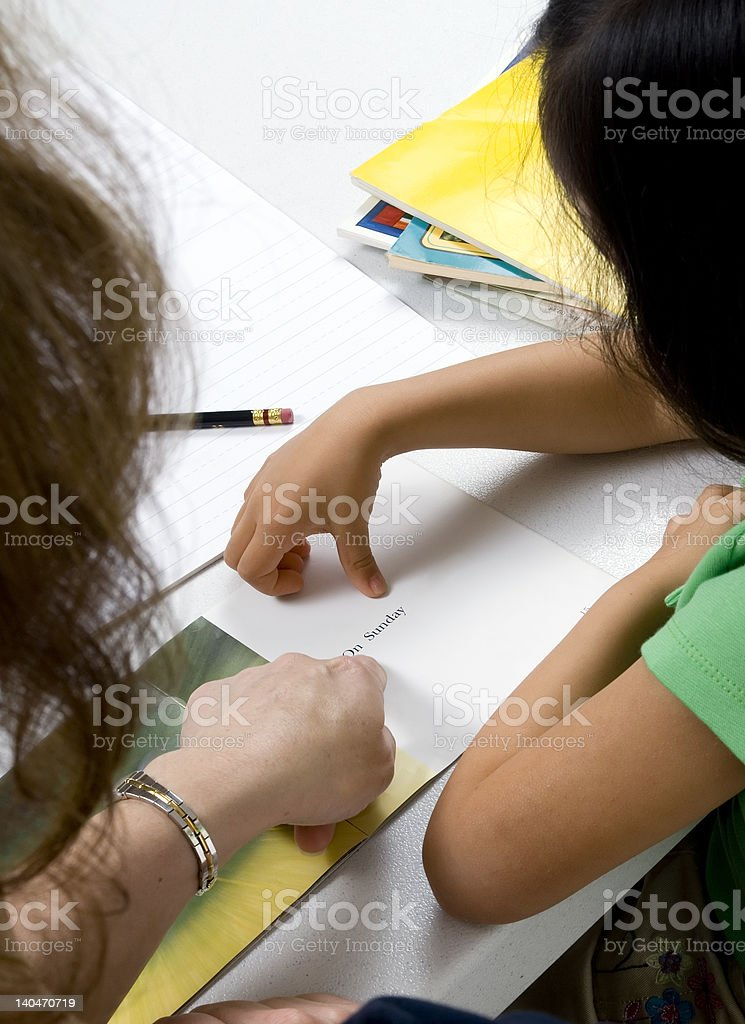 Reading and Writing royalty-free stock photo