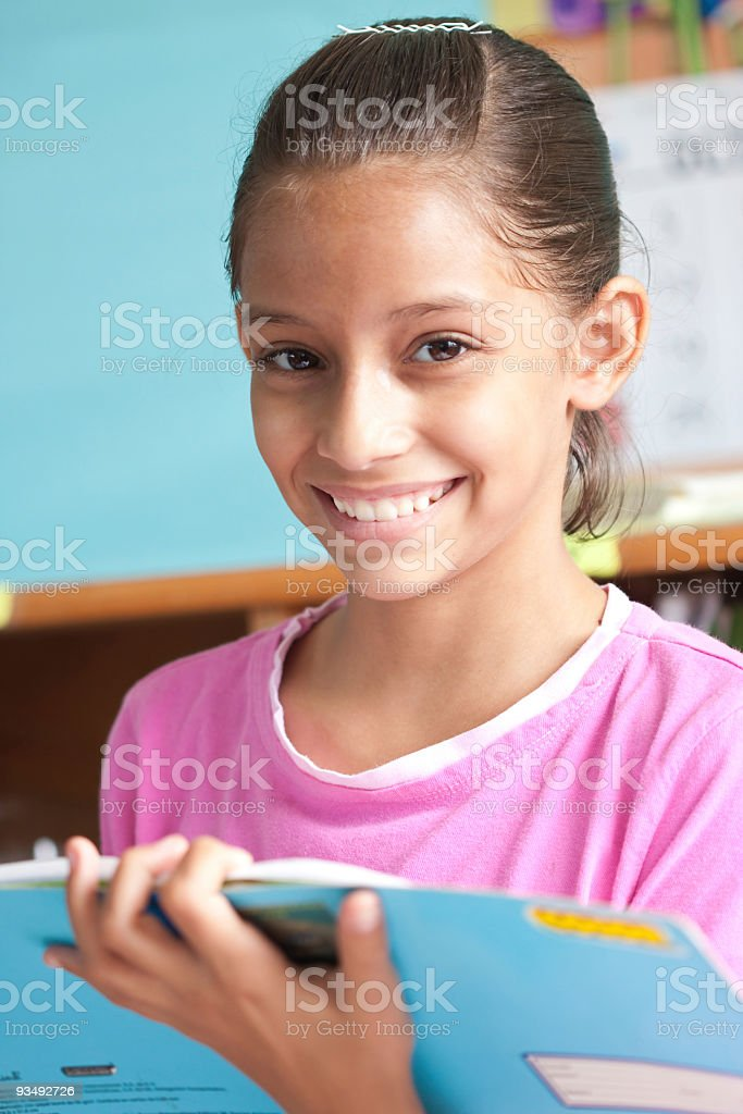 Reading assignment royalty-free stock photo