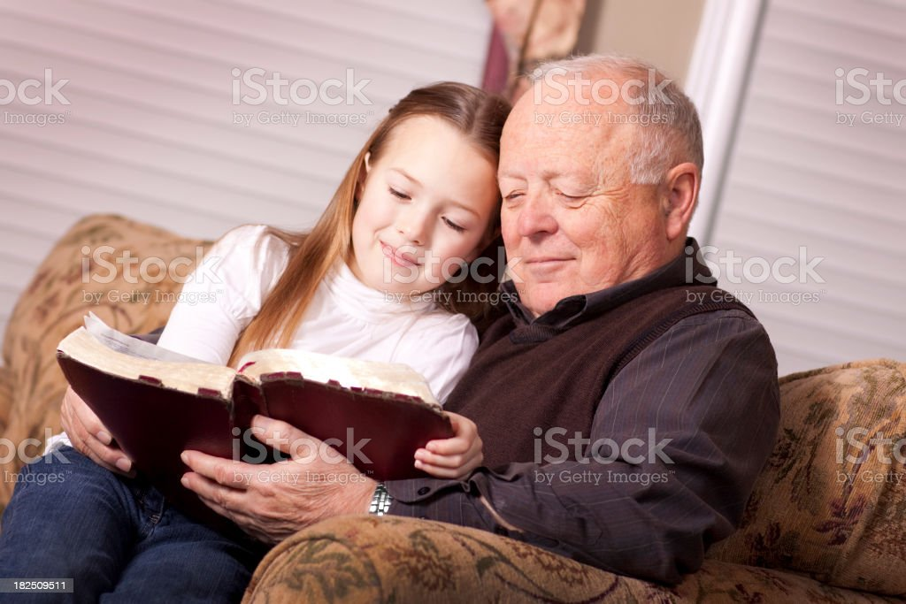 Reading Bible Together (SERIES) royalty-free stock photo
