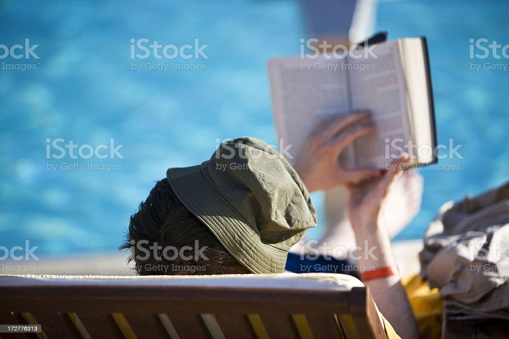 Reading book royalty-free stock photo