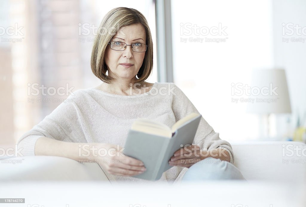Reading book royalty-free stock photo