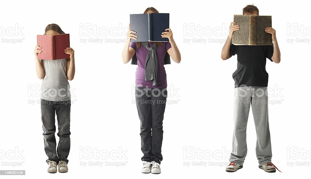 Reading books royalty-free stock photo
