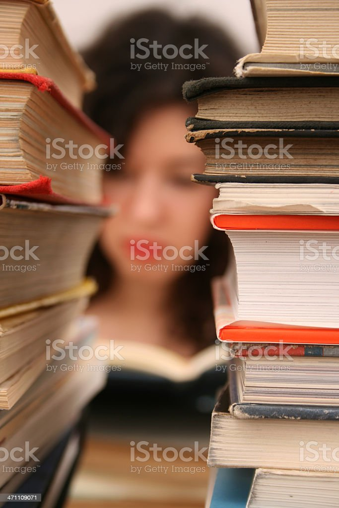 Reading books royalty-free stock photo