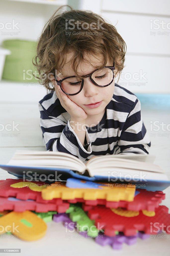 reading boy royalty-free stock photo