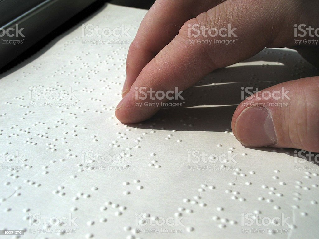 Reading Braille royalty-free stock photo