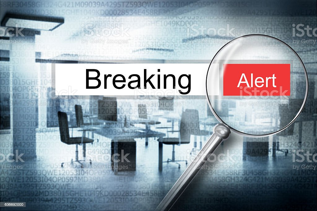 reading breaking browser search security alert 3D Illustration stock photo
