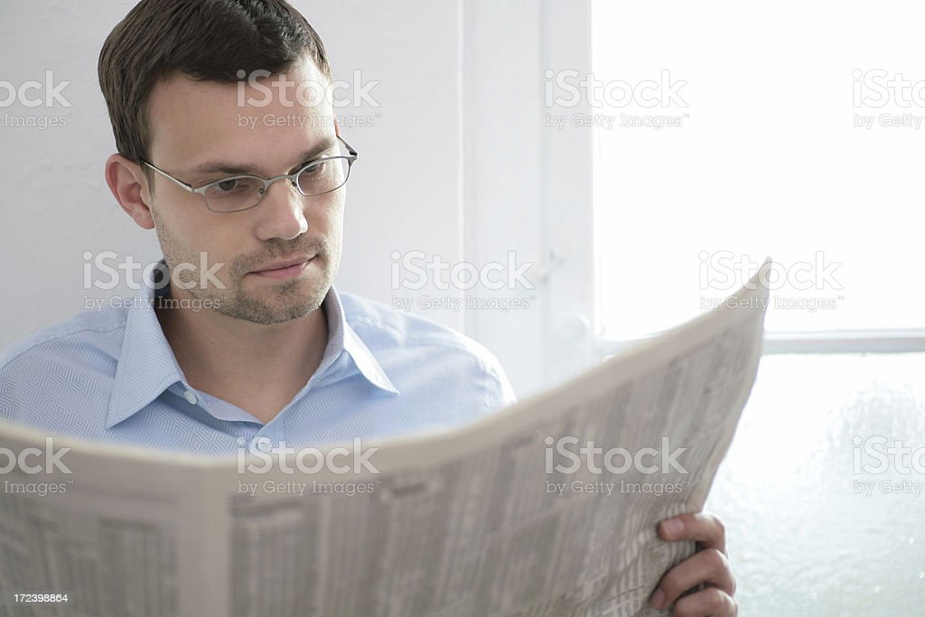 reading business news royalty-free stock photo