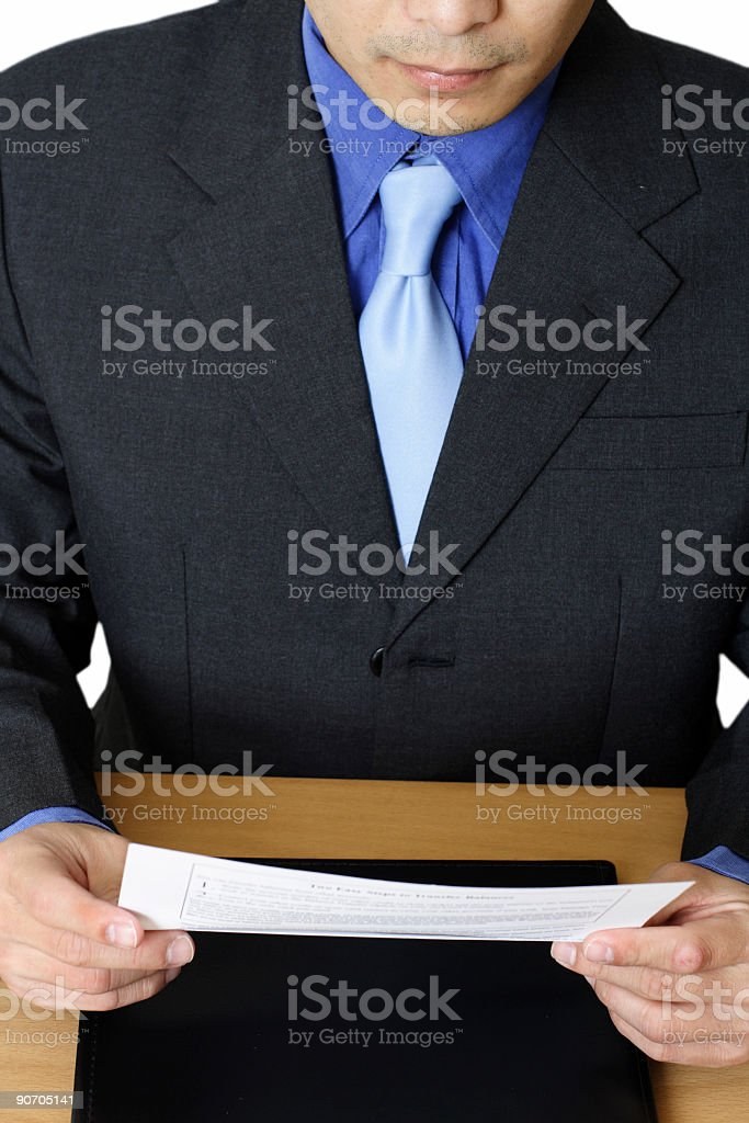 Reading businessman royalty-free stock photo