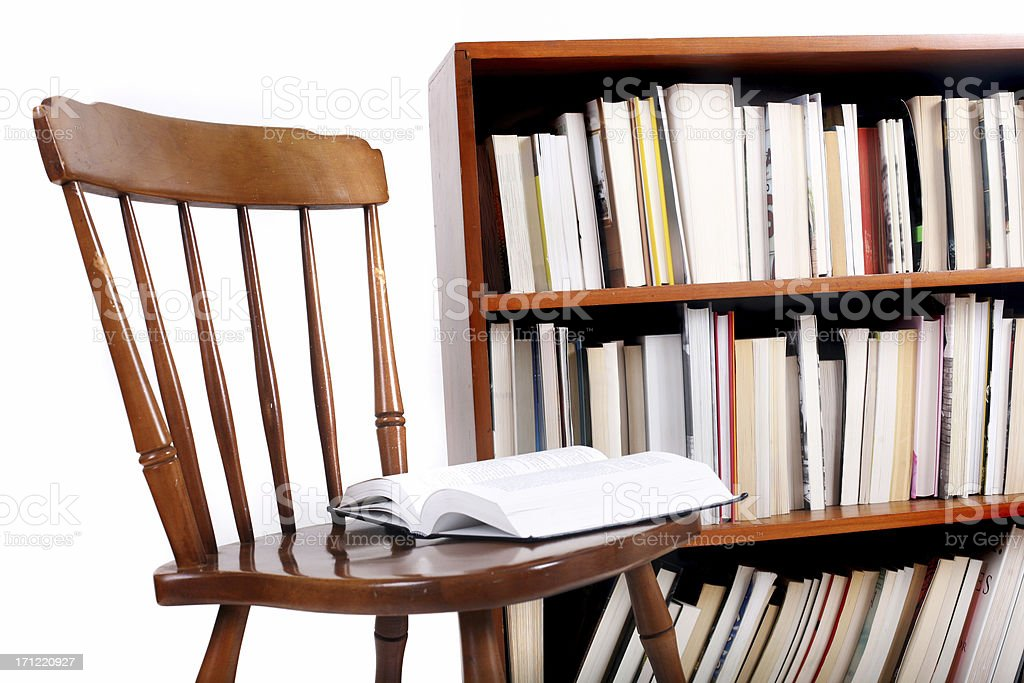Reading chair royalty-free stock photo