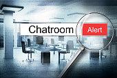 reading chatroom browser search alert 3D Illustration