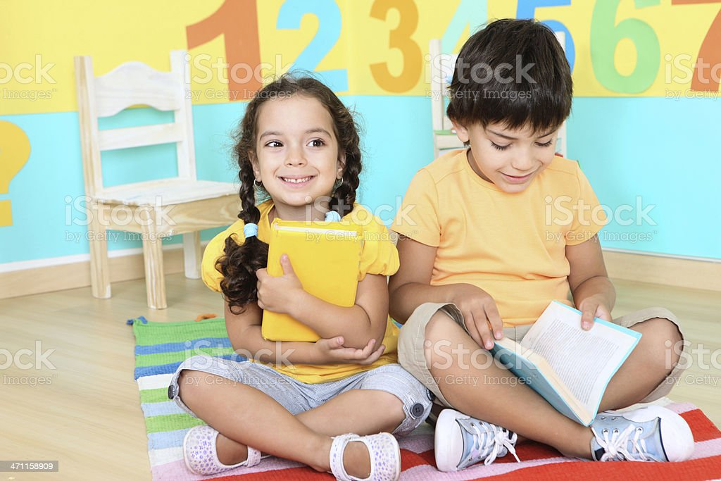 reading children royalty-free stock photo