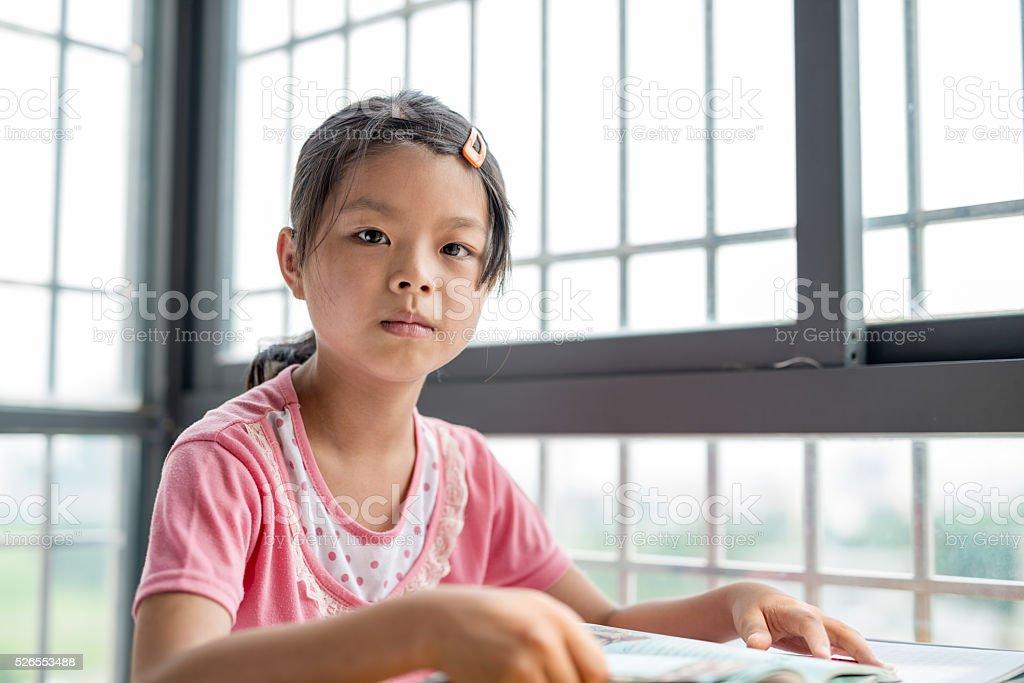 Reading children stock photo