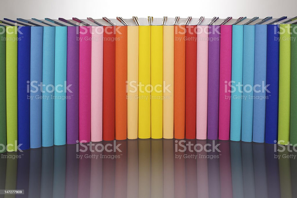 Reading colors your life! royalty-free stock photo