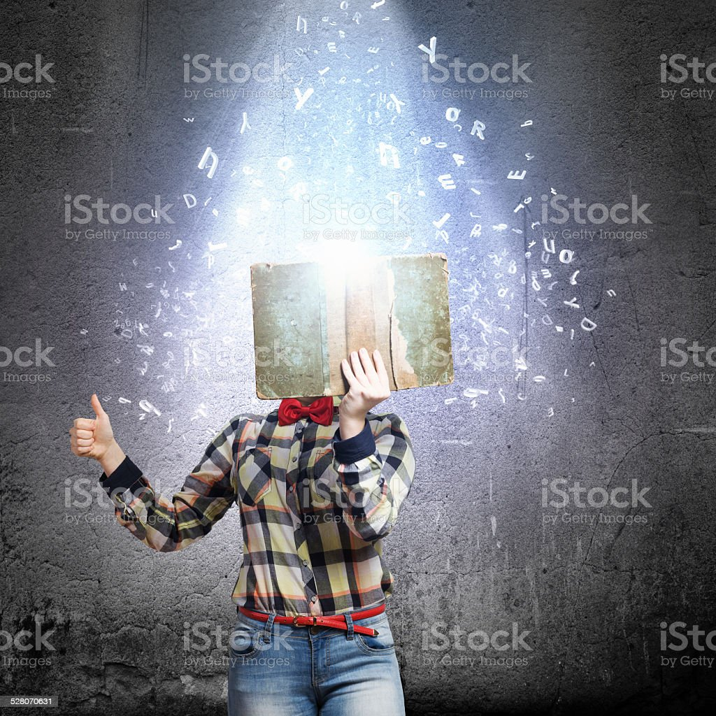 Reading concept stock photo