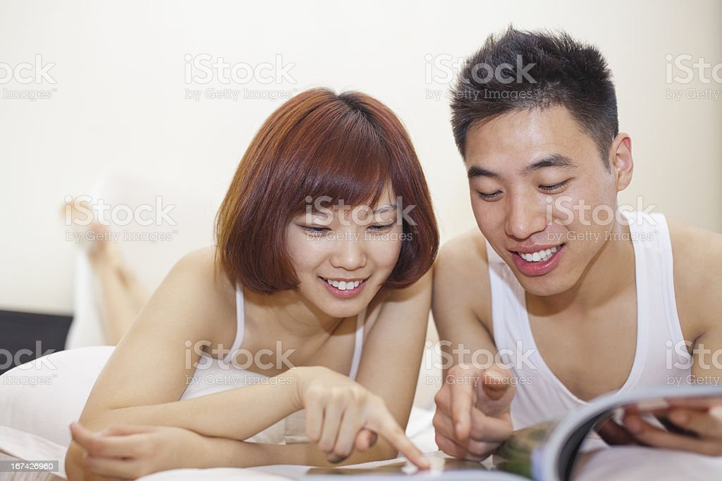 Reading couple royalty-free stock photo