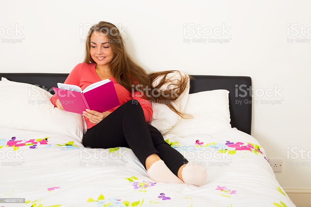 reading diary royalty-free stock photo