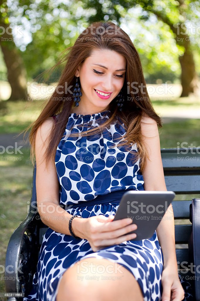 reading e-book royalty-free stock photo