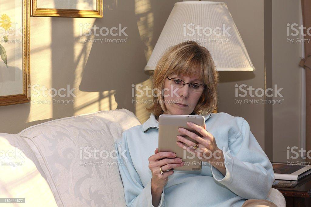 Reading Electronic Book stock photo
