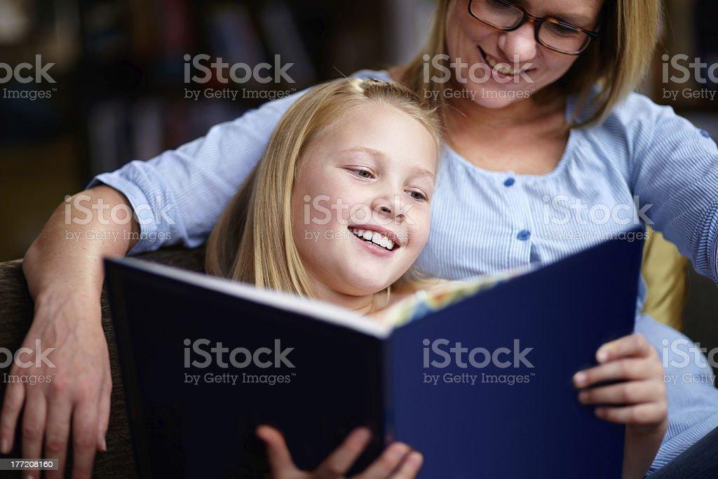 Reading exercises the brain royalty-free stock photo