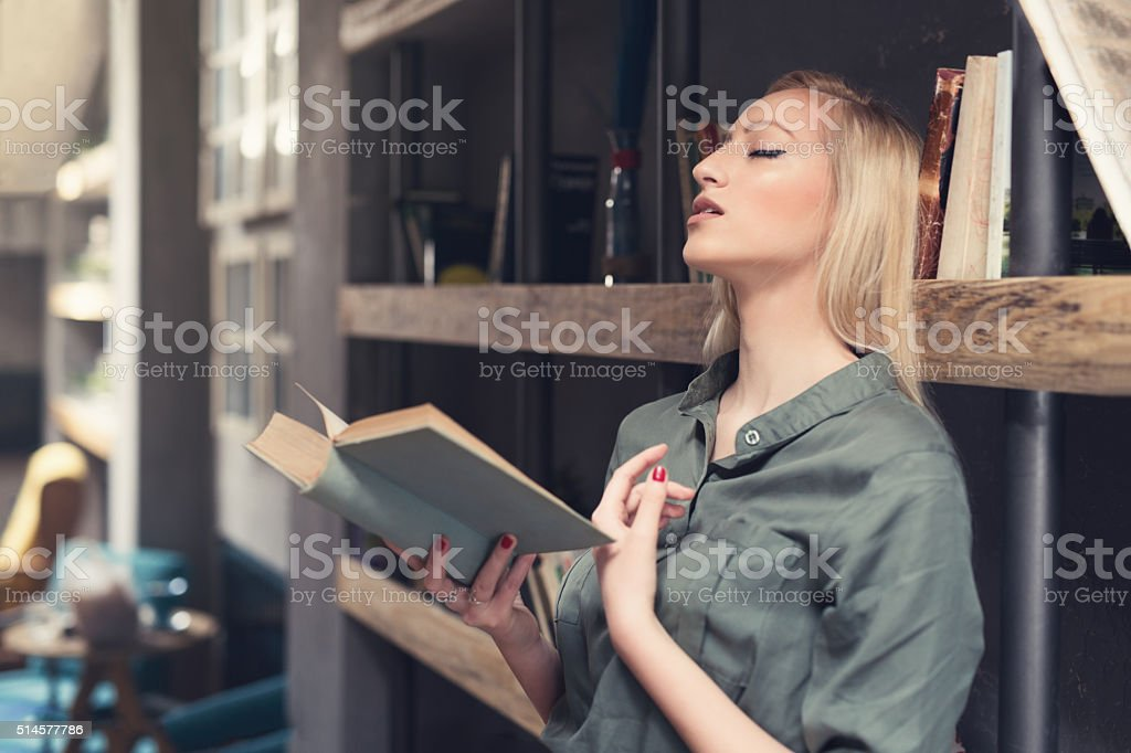 Reading Expands Imagination stock photo