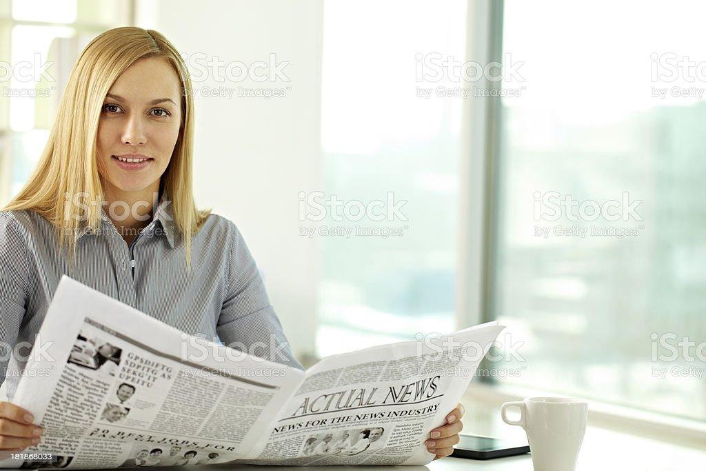 Reading fresh news royalty-free stock photo