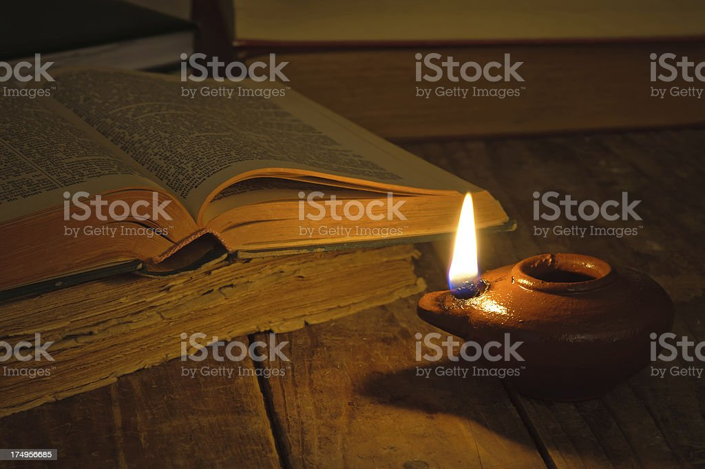 Reading from the bible. royalty-free stock photo