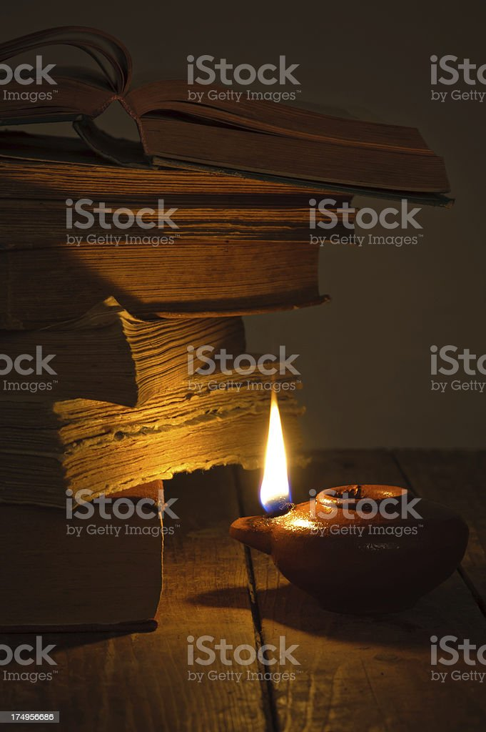 Reading from the Bible royalty-free stock photo