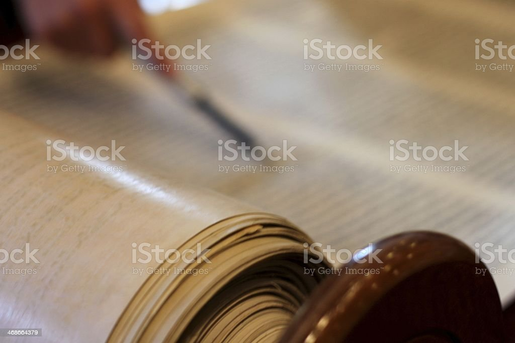 Reading from the Torah stock photo