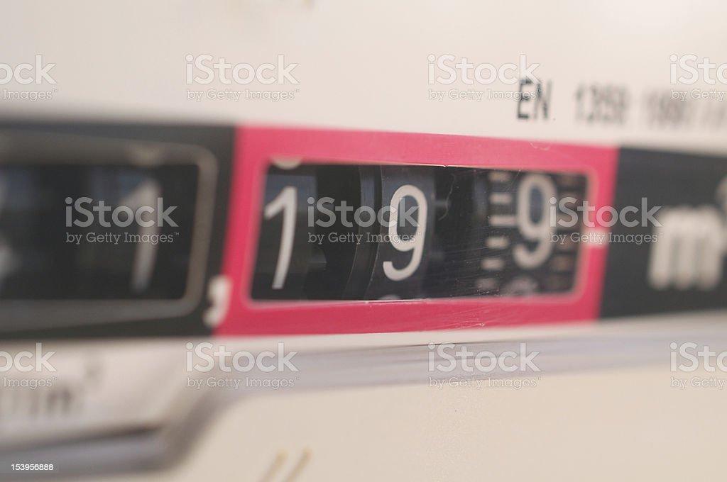 reading gas meter royalty-free stock photo