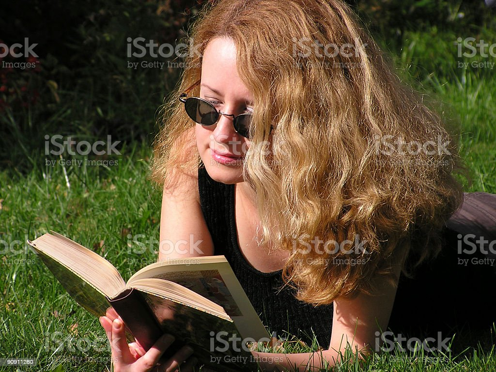 Reading girl 2 royalty-free stock photo