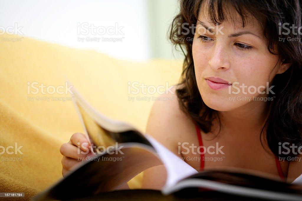 Reading girl royalty-free stock photo