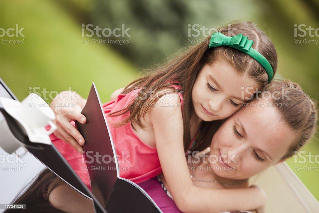Reading girls royalty-free stock photo