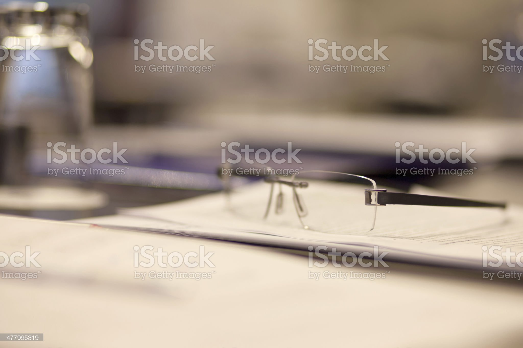reading glasses on table royalty-free stock photo