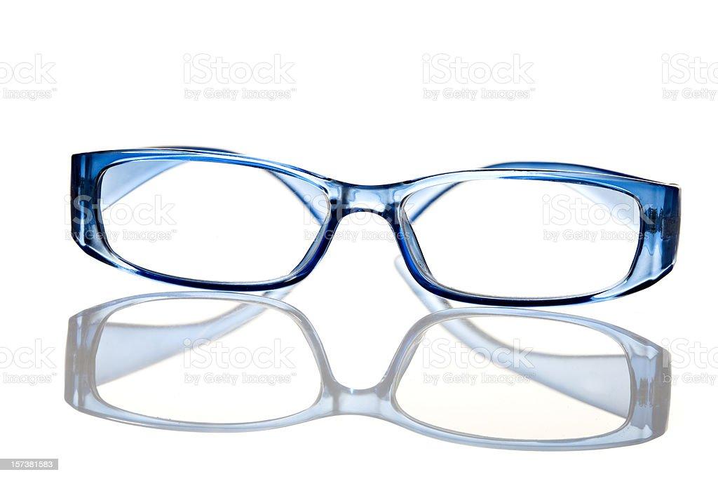 Reading glasses on white background royalty-free stock photo