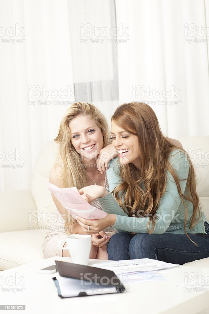 Reading good news letter. royalty-free stock photo