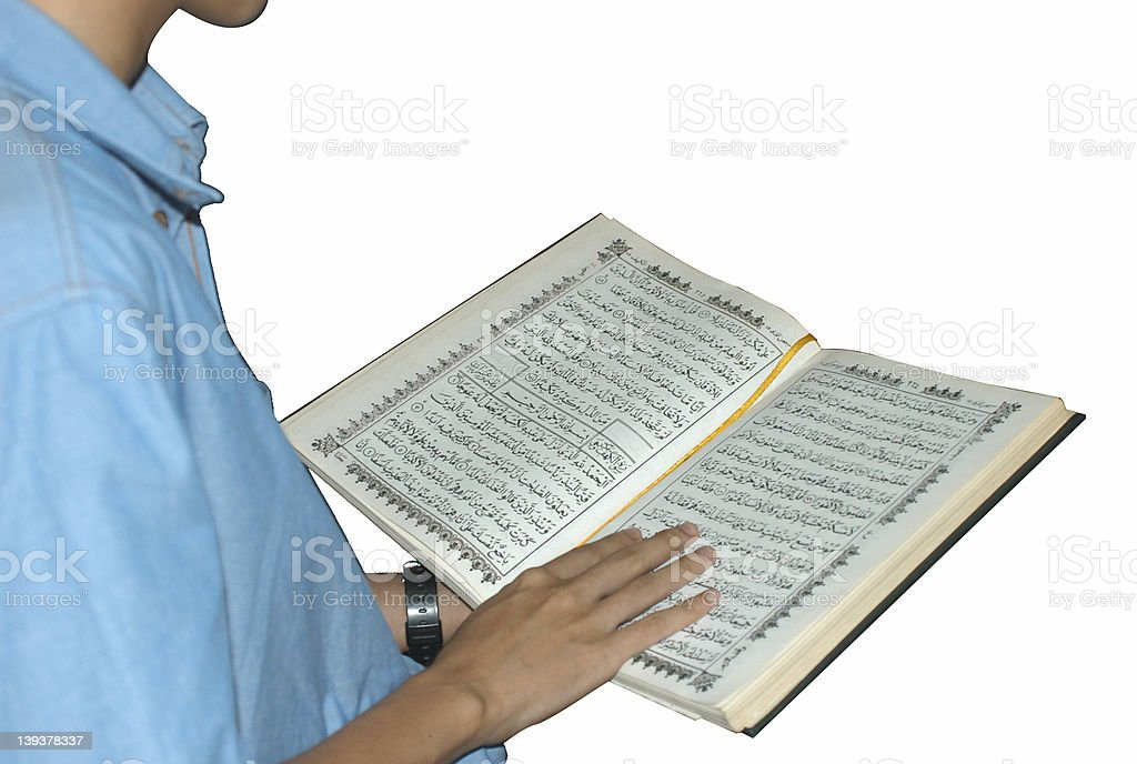 Reading Holy Qur'an royalty-free stock photo