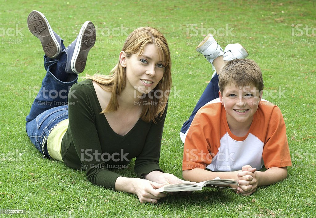 Reading in the Park royalty-free stock photo