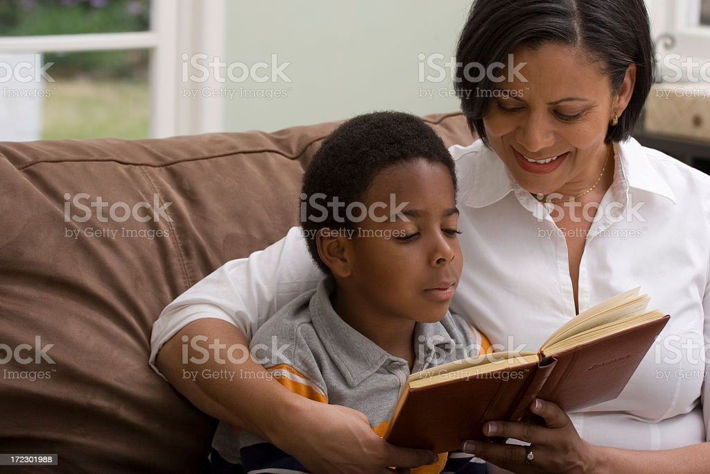 Reading is fun stock photo