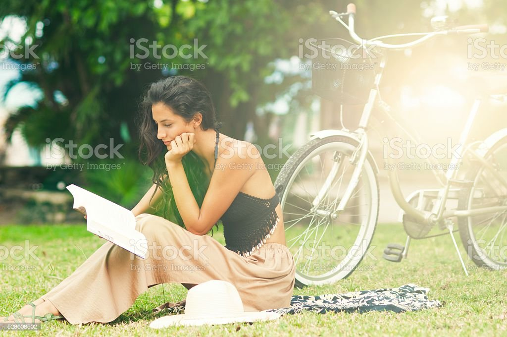 Reading is my passion. stock photo