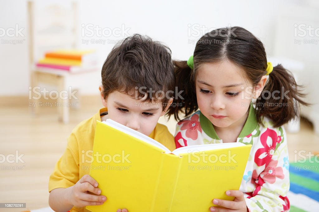 Reading kids royalty-free stock photo