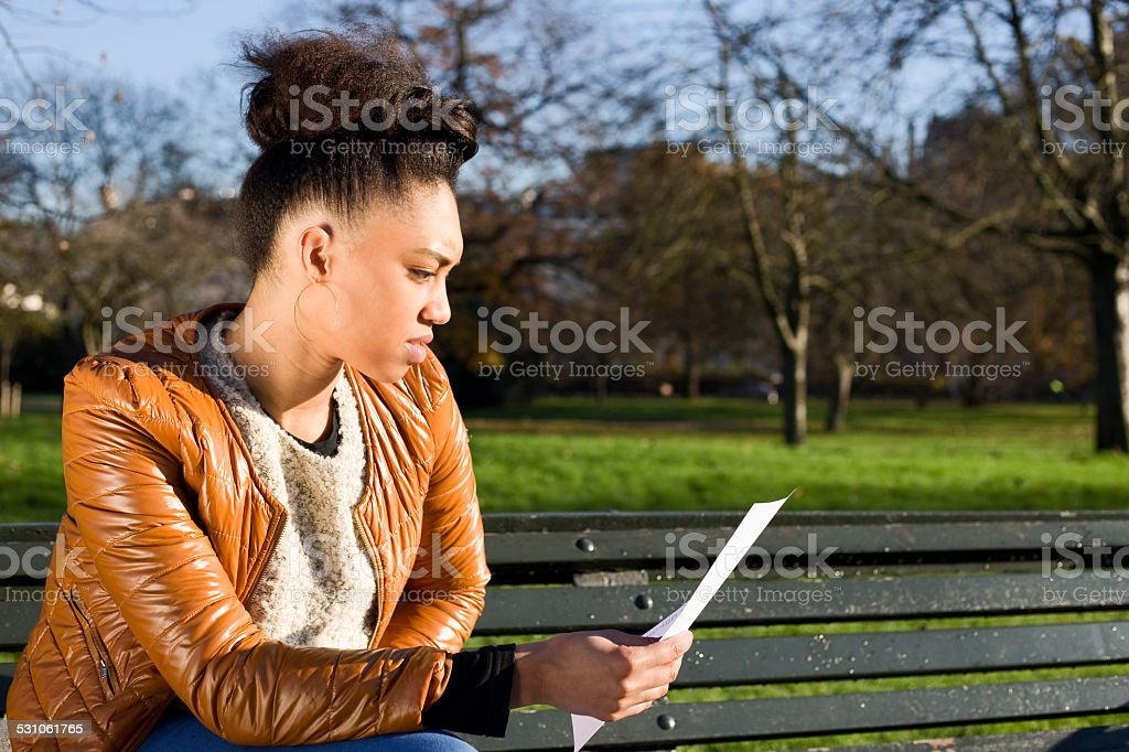reading letter royalty-free stock photo