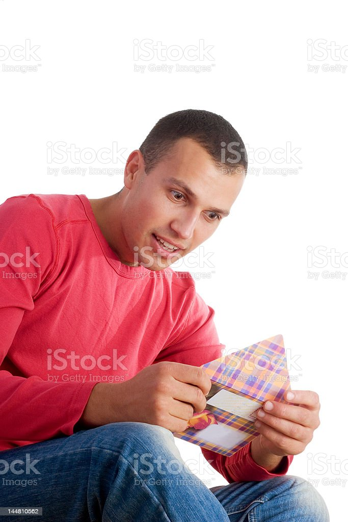 reading love letter royalty-free stock photo