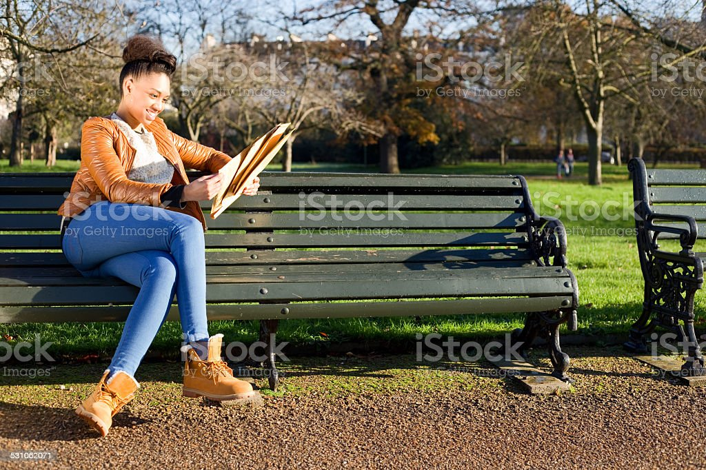 reading mail royalty-free stock photo