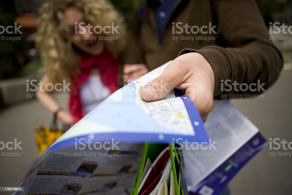 Reading map royalty-free stock photo